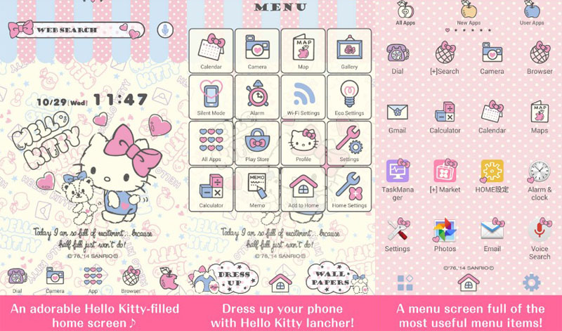 tema android hello kitty launcher tiny chum
