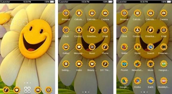 c launcher themes Smile CLauncher Theme