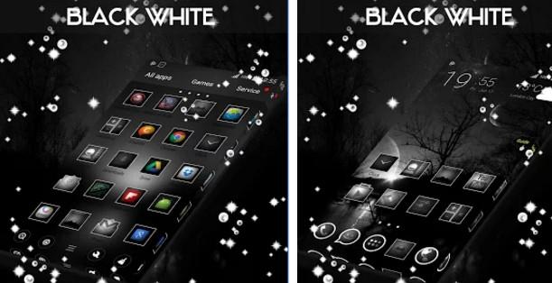 go launcher themes Black & White