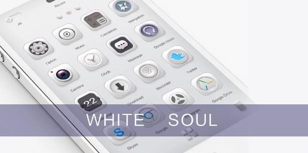 go launcher themes White Soul