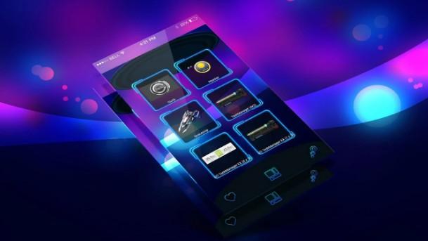 launcher 3d Neon 3D Next Launcher Theme