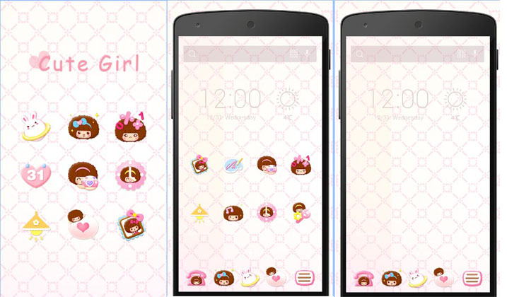 tema android lucu cute girl solo theme
