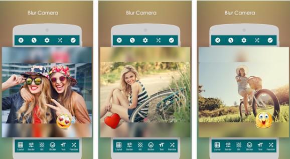 Aplikasi Kamera Blur square photo blur
