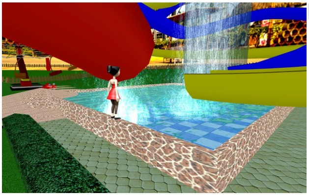 Taman hiburan air Slide: Menanjak Rush petualangan