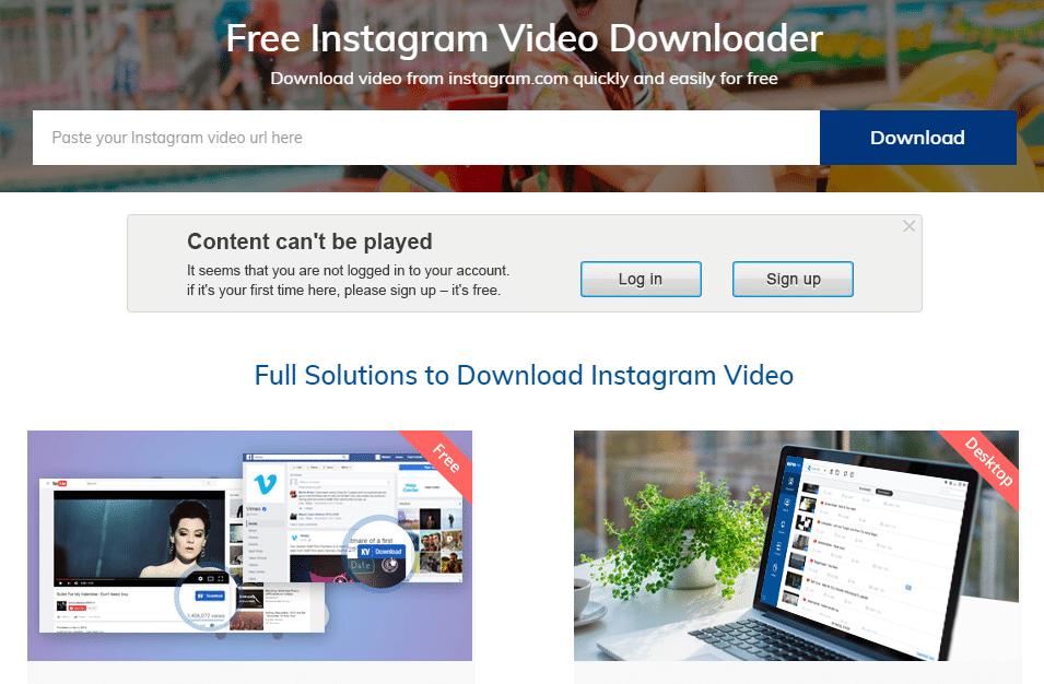 Keepvid Free Instagram Video Downloader