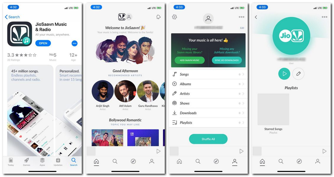 JioSaavn Music and Radio