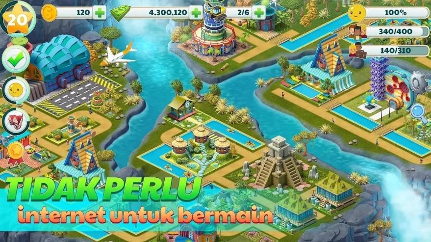 Game Membangun Rumah Town City - Village Building Sim Paradise Game
