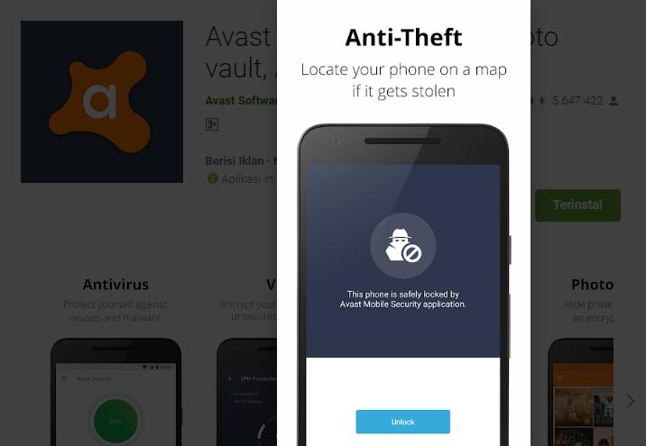 Anti-Theft Fitur Anti Maling