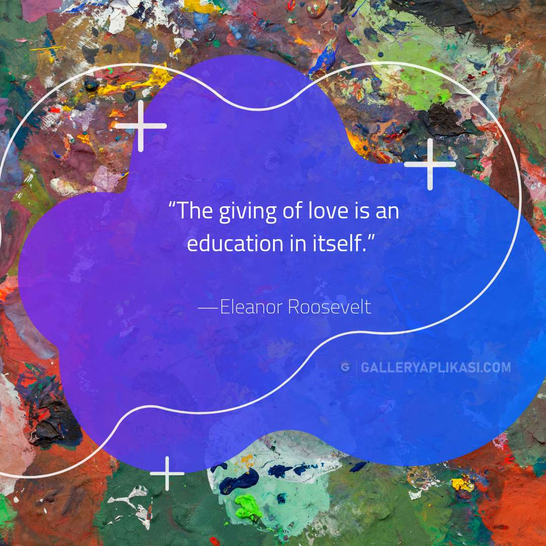 The giving of love