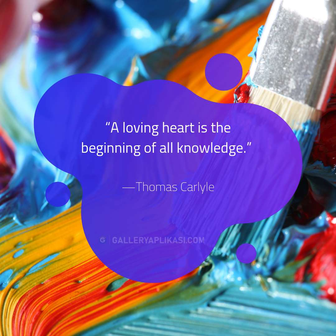 A loving heart is the beginning