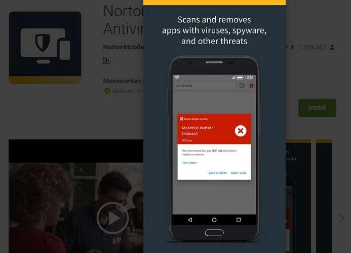 Scan Dan Hapus Aplikasi Bervirus, Spyware Dan Ancaman Lainnya
