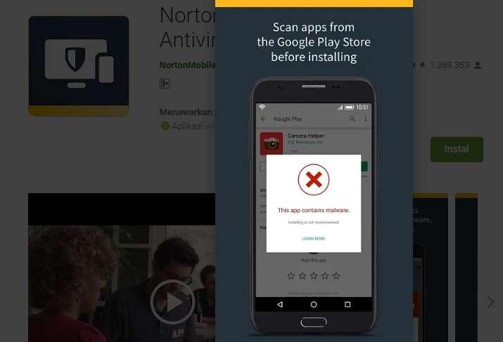 Scaning Sebelum Install Aplikasi Di Google Play