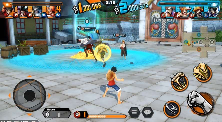 4 Lawan 4 Game One Piece